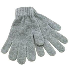 chenille handschoenen grijs lichtgrijs
