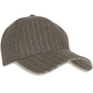 atlantis piccadilly baseball cap grijs pinstripe