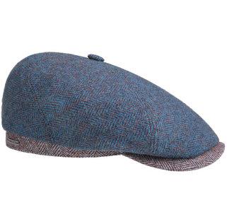 Stetson 6-Panel cap wool aparte pet met twee kleuren visgraat