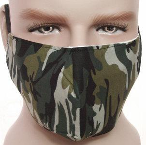 mondkapje mondmasker camouflage groen