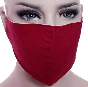 mondmasker rood stoffen katoen