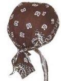 bandana paisley bruin hoofddoek hoofddoekje bescherming