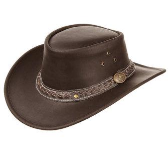leren australische hoed