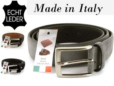 herenriem suede made in italy
