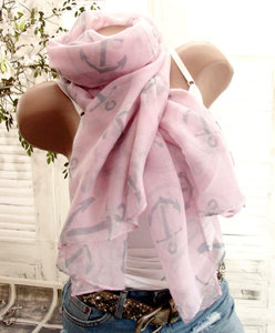 zomersjaal sjaal dames trendy roze