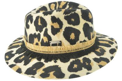 luipaard dierprint hoed dameshoed