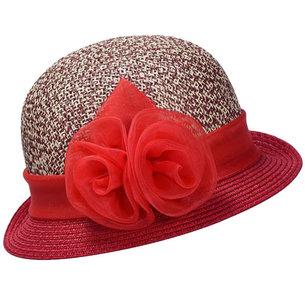 hoed hoedje rood bloem strik nette hoed gelegenheidshoed bruiloft