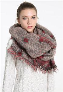 sjaal dames damessjaal oudroze
