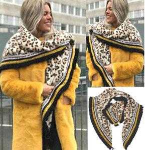 stola bont imitatiebont geel luipaard