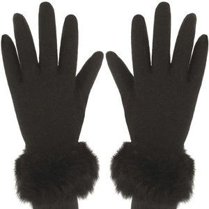 handschoenen zwart bontje dames