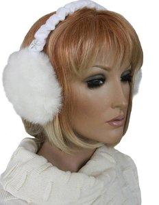 barts oorwarmers earmuffs bont wit