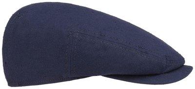 stetson driver cap blauw donkerblauw katoen