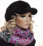 Nieuw!-Zachte-warme-winter-baret-voor-dames-kleur-zwart