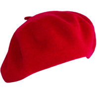 baret franse baret rood wol wollen winter dames