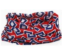 Losse-hoofdband-blauw-rood-met-blokken-print