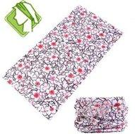 Losse-hoofdband-kleur-wit-roze-paars-bloemenprint