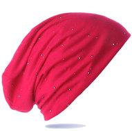 Trendy-zomermuts-kleur-pink-met-studs-voor-chemo-haarverlies