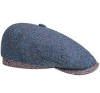 Stetson-6-Panel-cap-wool-aparte-pet-met-twee-kleuren-visgraat