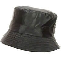 Lichtgewicht-zwart-bucket-unisex-regenhoedje