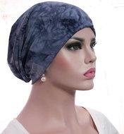batik muts blauw chemo