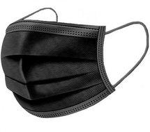 mondmasker mondkapje zwart wegwerp disposable