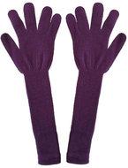 lila lange handschoenen acryl