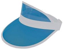 retro zonneklep blauw