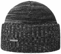 stetson wollen wintermuts zwart grijs