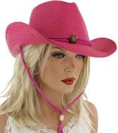 Trendy-dames-festival-cowboyhoed-pink