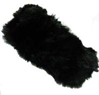 hoofdband haarband zwart bruin bont
