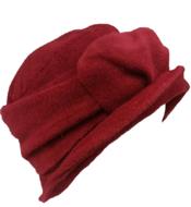 rood winterhoedje fiebig dameshoed