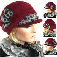 leopard bordeaux rood