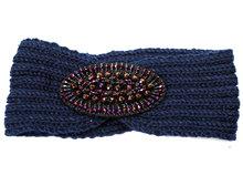 hoofdband haarband dames blauw kobalt
