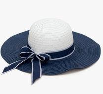 flaphoed zomerhoed blauw wit