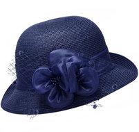 dameshoed cloche model blauw