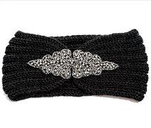 hoofdband haarband zwart glitter