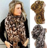 sjaal luipaard motief