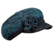 fiebig turqoise baret klepje versiering