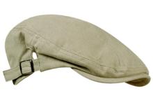 Modieuze-CANVAS-DRIVER-FLATCAP-Herenpet-beige