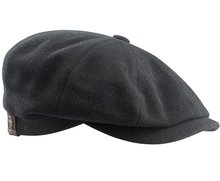Stetson-Hatteras-Wool--Casmere-kleur-donkerantraciet-met-oorflappen!