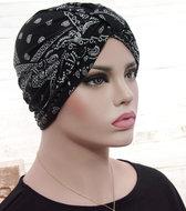 Tulband zwart paisley